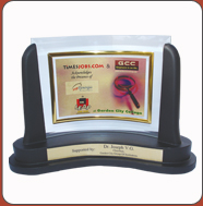 Corporate gifts-Glass Trophy Bangalore